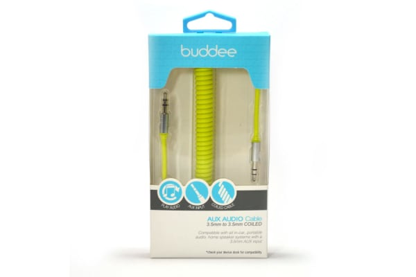 Buddee Coiled 3.5mm AUX cable - Citron