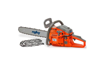 "20"" Easy Start 58cc Petrol Chainsaw Plus Extra Chain"