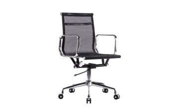 Ergolux Executive Eames Replica Low Back Mesh Office Chair (Black)