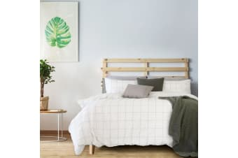 Arctic Off White Embellished Quilt Cover Set Queen