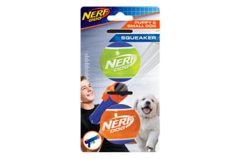 Nerf Puppy Tennis Ball (Pack Of 2) (Green/Orange/Blue) (One Size)