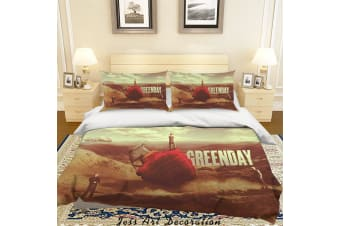 3D Rock Band Green Day Quilt Cover Set Bedding Set Pillowcases 57