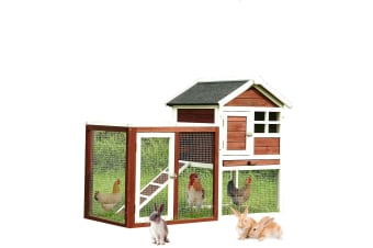 PaWz Pet Dog Timber House Wooden Outdoor Rabbit Hutch Chicken Coop Large 8 Types