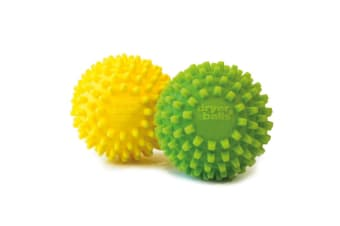 D.line Dryer Balls Set of 2 Yellow/Green Fabric Softener Ball Non Toxic