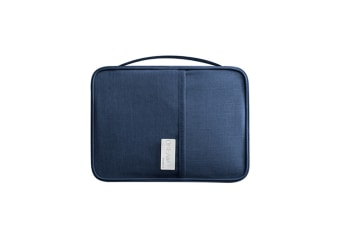 Passport Bag Oxford Cloth Portable Waterproof Card Bag Navy L