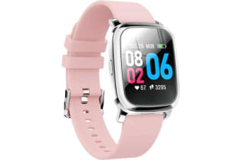 Bluetooth V5.0 Smart Watch Gps Track Heart Rate Blood Pressure 1.3&Quot; - Pink