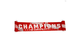 Liverpool FC Champions Of Europe 2019 Scarf (Red/White) (One Size)