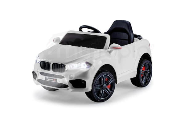 Rovo Kids Ride On Car Bmw X5 Inspired Electric Toy Battery Remote 12v White