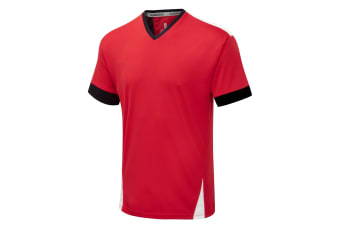 Surridge Mens Blade Short Sleeve Training T-Shirt (Black/ Red/ White)