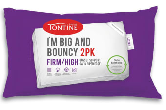 Tontine I'm Big & Bouncy High Profile Pillow (Firm Feel, 2 Pack)