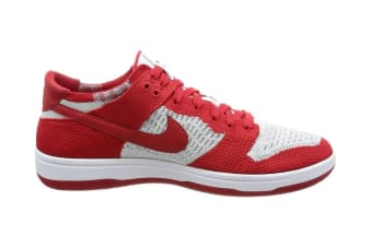 Nike Men's Dunk Flyknit Shoe (University Red/Wolf Grey, Size 9)
