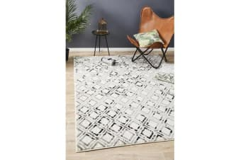 Felicia Grey & Charcoal Soft Geometric Rug