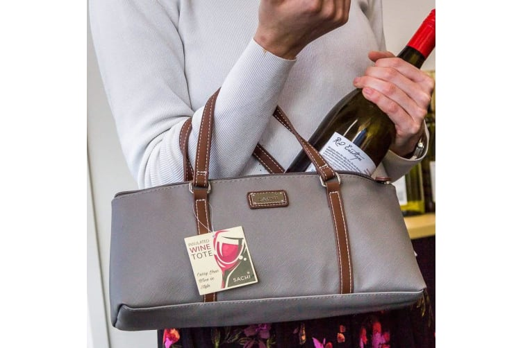 Insulated Wine Bottle Cooler Purse | Cools, Carries & Camouflages!