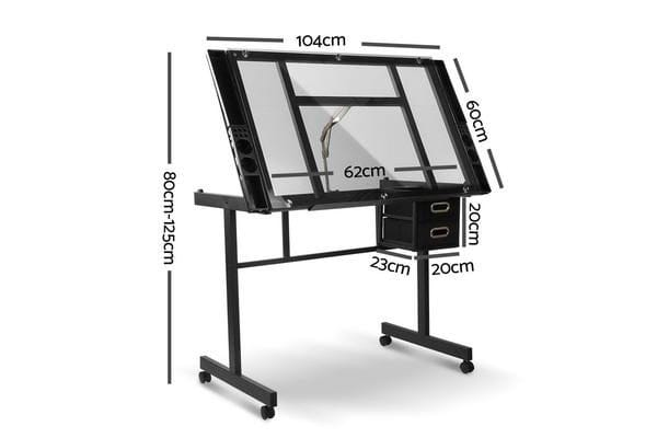 Adjustable Drawing Desk (Black/Grey)