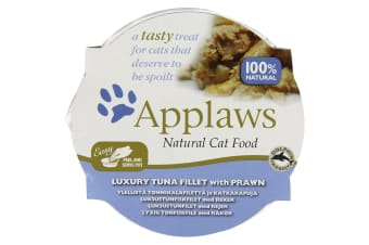 Applaws Luxury Tuna Fillet With Prawn Wet Cat Food (10 Trays) (May Vary) (10 x 60g)