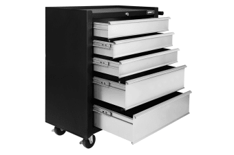 5 Drawers Roller Toolbox Cabinet (Black/Grey)