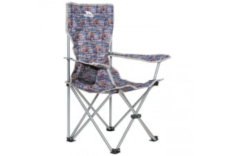 Trespass Childrens/Kids Joejoe Camping Chair With Carry Bag (Navy Retro Tape)