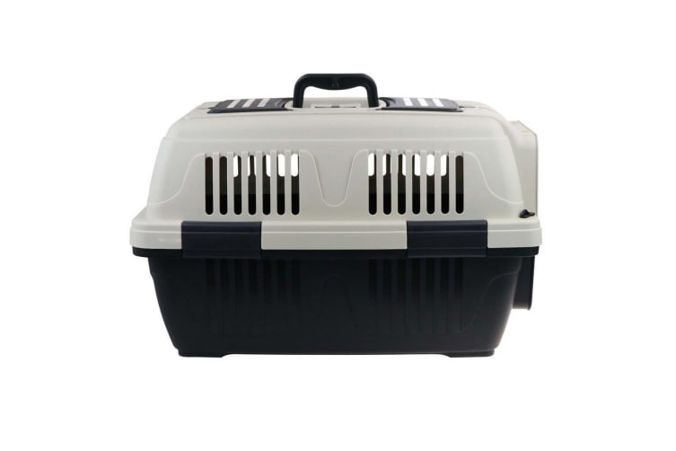 Portable Travel Pet Dog Cat Carrier 57X37X35CM with Lock Gate Crate Transporter Cage House Kennel Airline