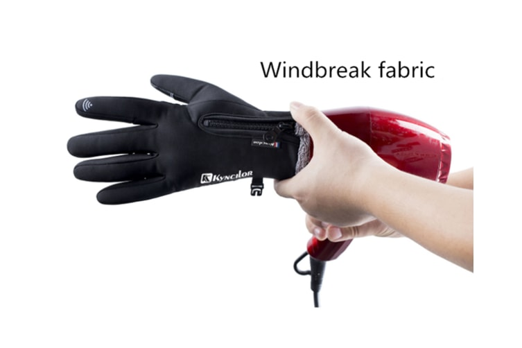 Outdoor Thickened Skiing Cold And Warm Touch Screen Riding Gloves In Winter - Black Black L
