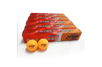 30x DHS 3 Star 40mm Table Tennis Ping Pong Competition Balls, Orange