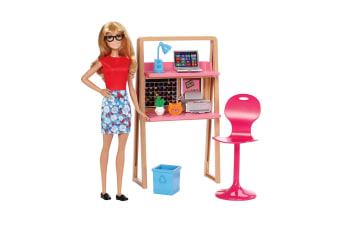 Barbie Office Playset with Doll