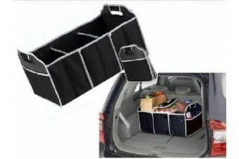 Collapsible Car Boot Organiser with Cooler Bag Trunk Storage Bags Folding New