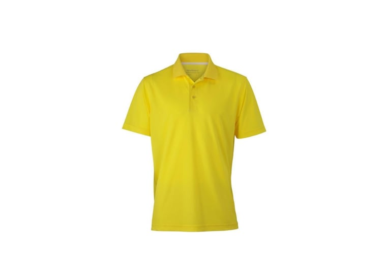 James and Nicholson Mens High Performance Polo (Yellow) (M)