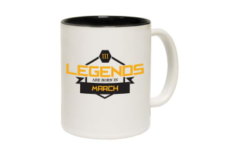 123T Funny Mugs - Legends March - Black Coffee Cup