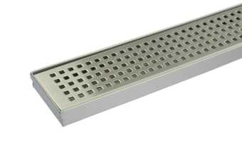 900mm Bathroom Shower Stainless Steel Grate Drain w/Centre outlet Floor Waste Square Pattern