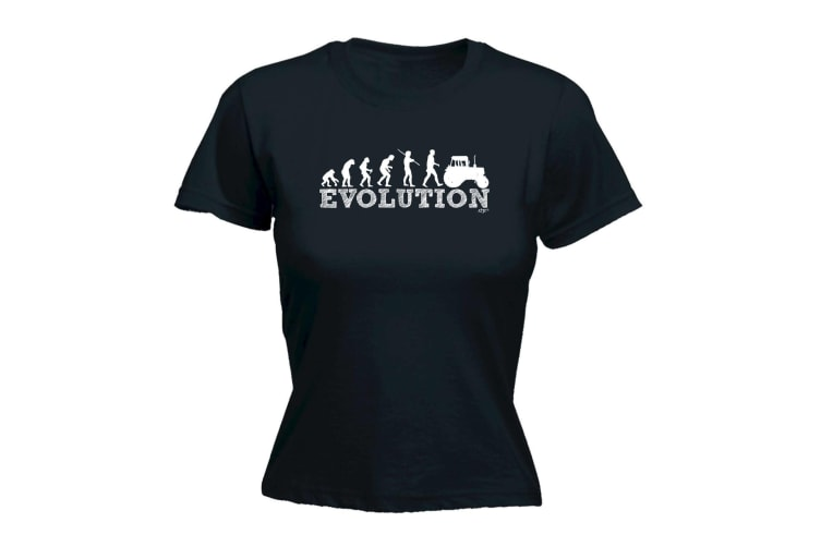 123T Funny Tee - Evo Tractor - (XX-Large Black Womens T Shirt)