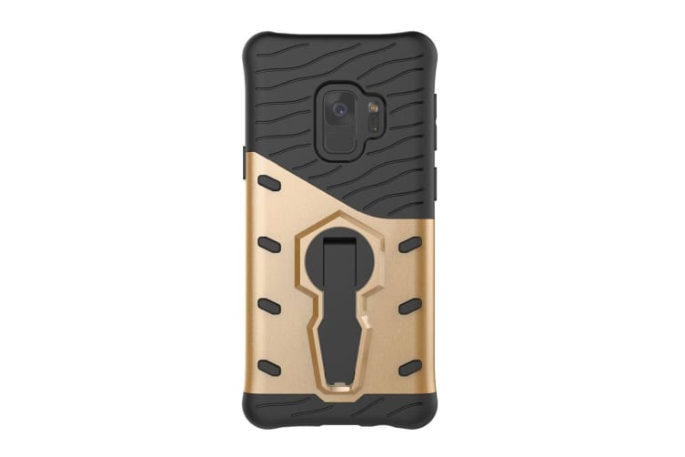 For Samsung Galaxy S9 Case Stylish Hybrid Armour Durable Protective Cover Gold