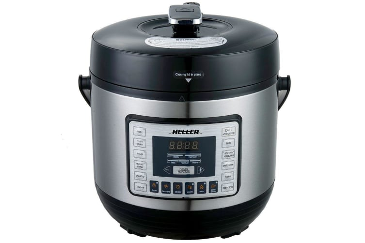 Heller HPC1000 6L Electric Digital Slow/Pressure Cooker Stainless Steel 1000W