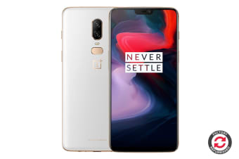 Refurbished OnePlus 6 (128GB, Silk White)