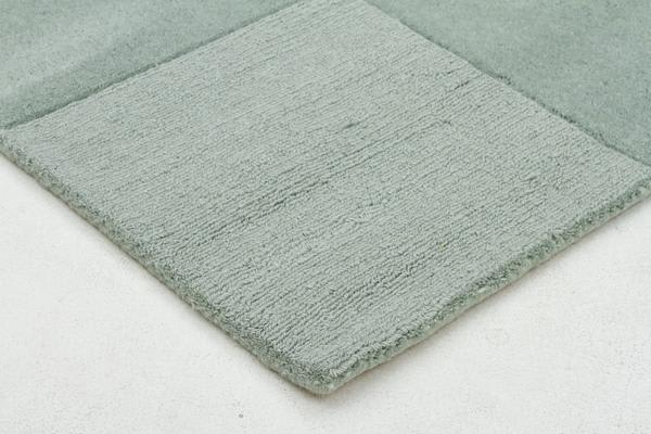 Wool Hand Tufted Rug - Box Seafoam - 320x230cm