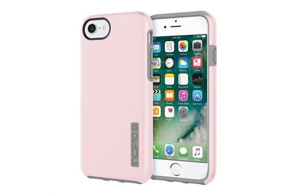 Incipio iPhone 7 DualPro Case - Iridescent Rose Gold/Gray