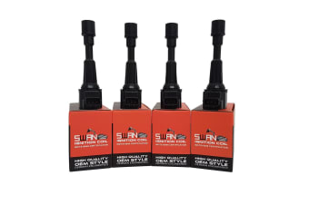 Pack of 4 - SWAN Ignition Coil for Nissan Frontier (XE / SE / SV) 2.5L