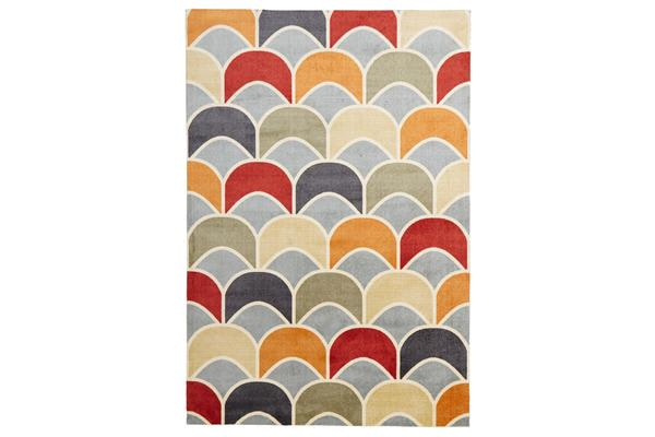 Awesome Fish Scale Design Rug Blue Red 220x150cm