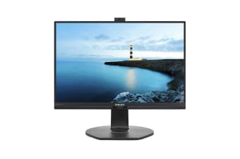 Philips 24'' Full HD 1920x1080 Monitor with Security Webcam (241B7QPJKEB)