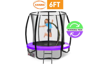 Kahuna Classic 6ft Trampoline Reversible Pad Purple Green