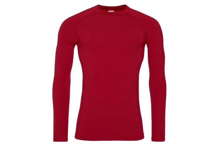 AWDis Just Cool Mens Long Sleeve Baselayer Top (Fire Red) (S)
