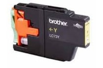 Brother LC-73Y Yellow High Yield Ink - DCP-J525W/J725DW/J925DW, MFC-J6510DW/J6710DW/J6910DW/J5910DW/J430W/J432W/J625DW/J825DW - up to 600 p