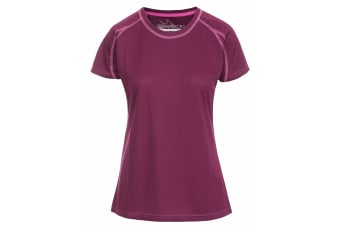 Trespass Womens/Ladies Mamo Short Sleeve Active T-Shirt (Grape Wine)