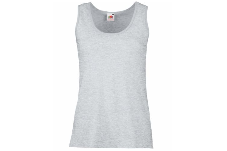 Fruit Of The Loom Ladies/Womens Lady-Fit Valueweight Vest (Heather Grey) (XS)
