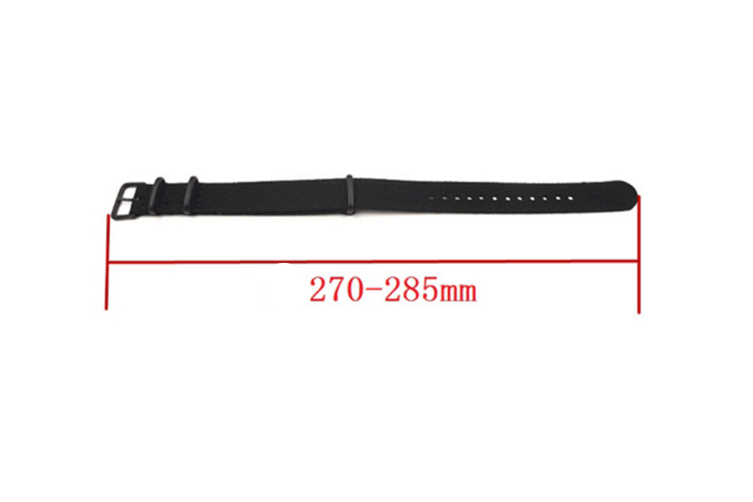 Select Mall NATO Style Rugged Stitched Canvas Watch Strap Straps with Vaccum Plating Black Buckle Cotton Canvas Watch Bands-White18mm