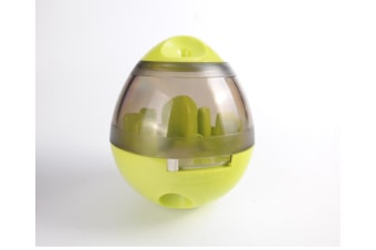 Pet Increase IQ Slow Feeder Interactive Treat Dispensing Ball,Tumbler Design Training Puzzle Shaking Toys for Dogs & Cats-GREEN