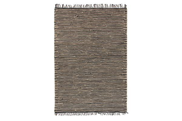 Bondi Leather and Jute Rug Natural Nude Pink 220x150cm