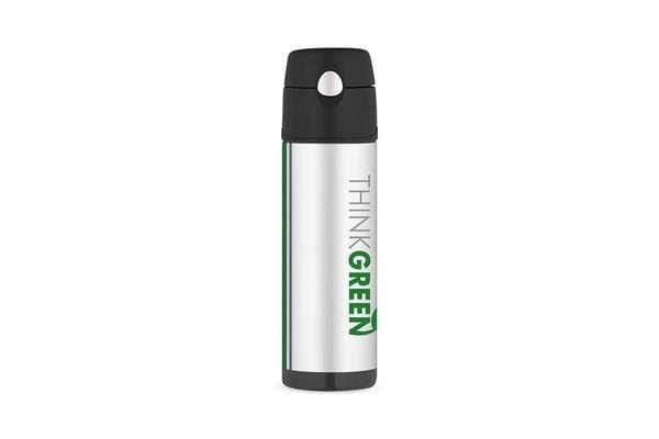 Thermos Stainless Steel Vacuum Insulated Hydration Bottle 530ml Think Green