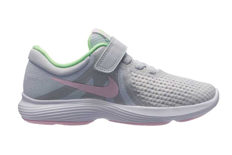 Nike Revolution 4 (PS US) Girls' Pre-School Shoe (Platinum/Pink Foam, Size 11C US)