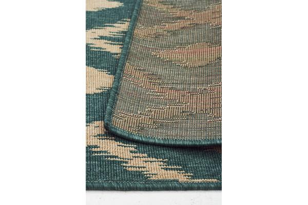 Avoca Trible Turquoise Outdoor Rug 160X110cm