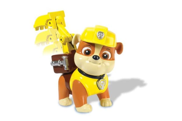 Paw Patrol Action Pack Pup and Badge - Snap on Badge Rubble